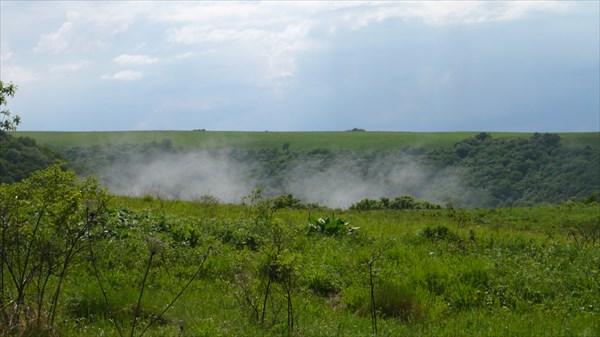 Рождение облака после дождя