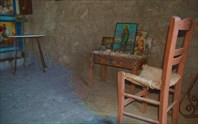 Внутри церкви Agia Irini на Elafonisi