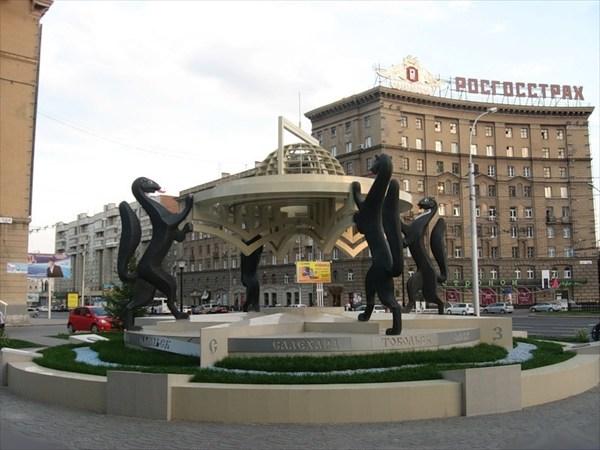 """Скульптура """"Сибирские просторы"""""""